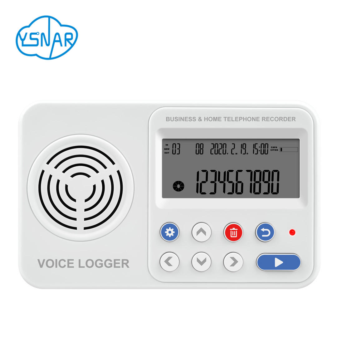 1CH Audio Logger for Intercom / Radio voice with SD Card, 1 Port/Line Standalone Telephone Recorder for Phone Calls