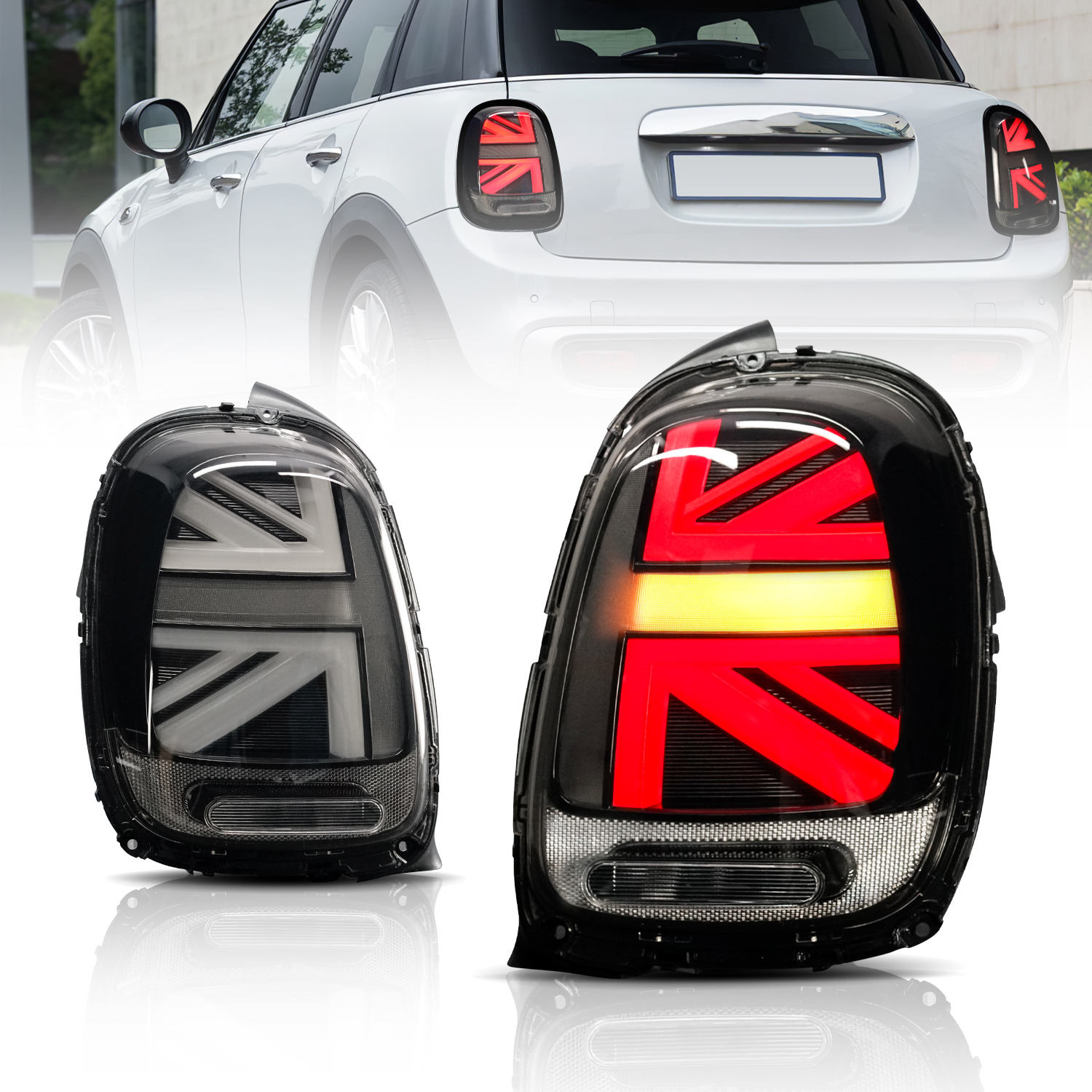 Led Tail Lights for MINI Cooper F55 F56 F57 Union Jack Rear Lights Assembly 2014-UP for John Cooper works forBMW MINI Rear Lamp