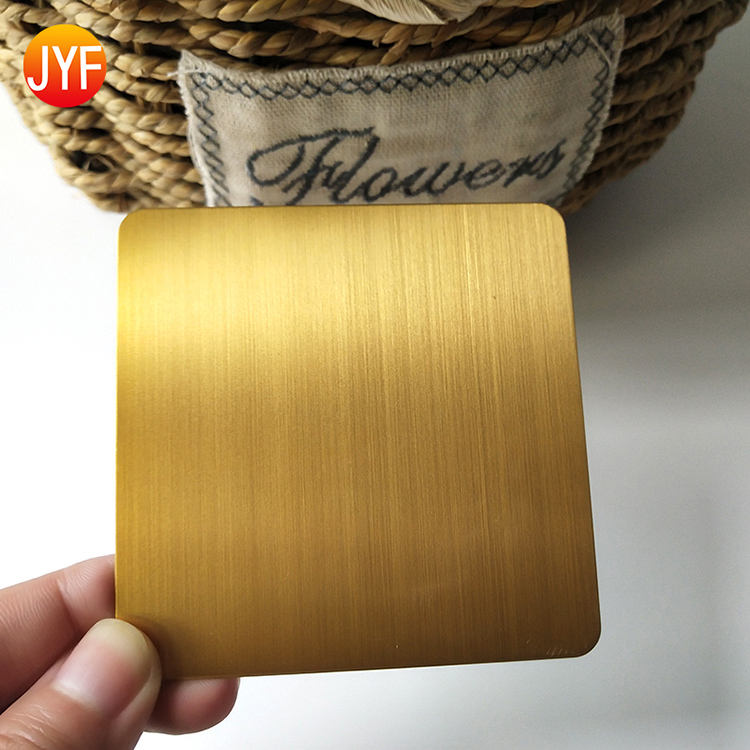 Y258 Sus 304 316 Hairline Finish Gold Thin Stainless Steel Sheets