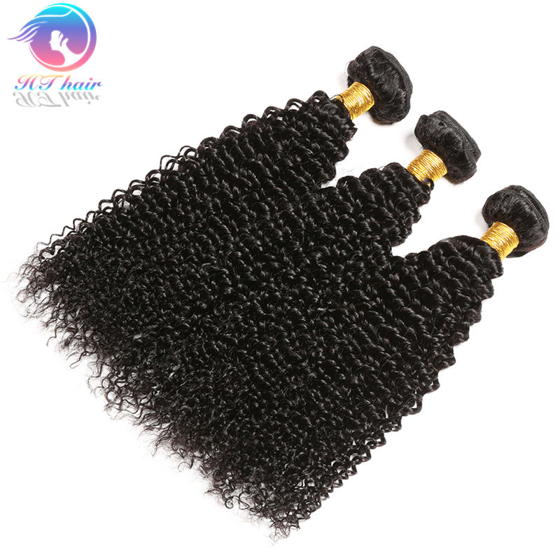 Premium Virgin Natural Hair Products Malaysian Curly Human Hair Blend Weave