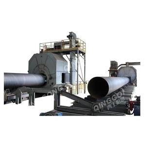QINGGONG Hot Sale Relible Steel Pipe External Wall diabolo roller Shot Blasting Machine