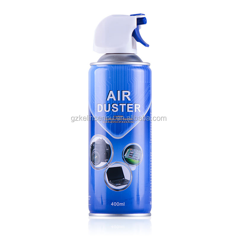 Eco-friendly Compressed Gas Spray 400ml Air Duster for LCD with MSDS Certificate