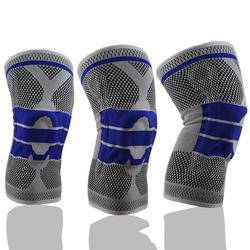 wholesale high quality  elastic Knitted Silicone Anti-Slip Crawling Knee support  for Toddlers Knee pads
