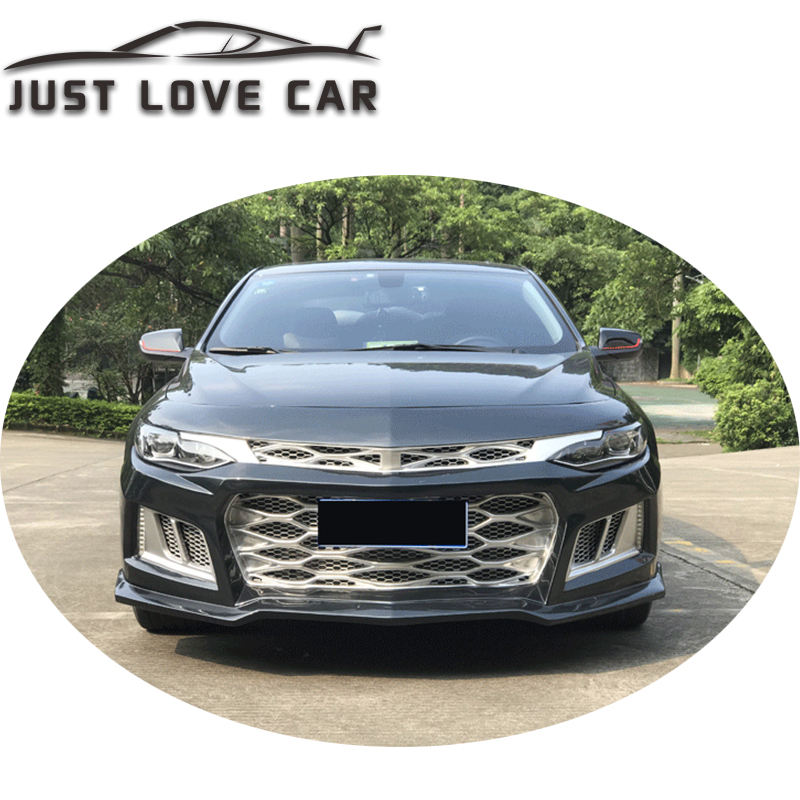 FOR CHEVROLET MALIBU XL BODY KIT UPGRADE TO CAMARO ZL1 FRONT BUMPER REAR BUMPER DIFFUSER SIDE SKIRTS