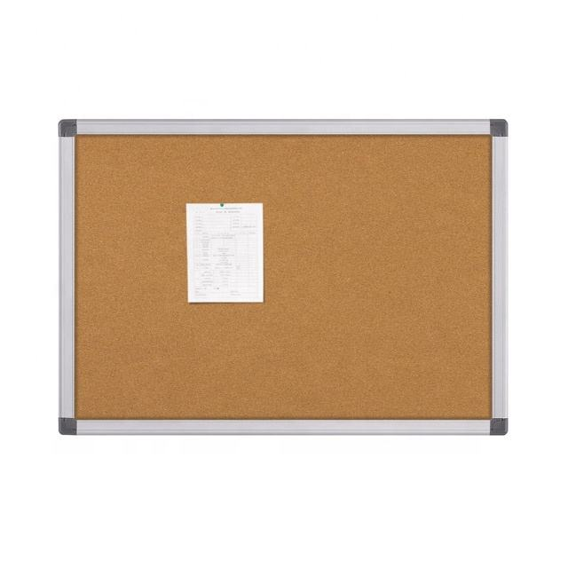 Wall Mounted Office Cork Board Soft Bulletin Board With Aluminum Frame