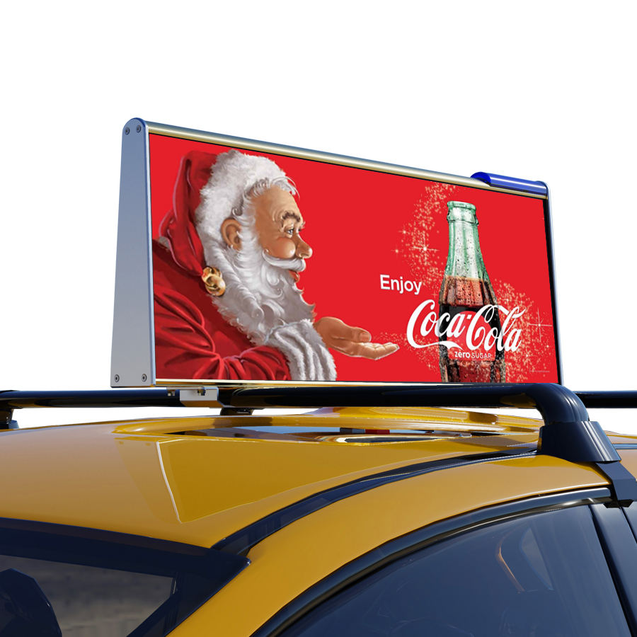Taxi Top P 2,5 LED Digital Display Volle Farbe 4G WIFI GPS Outdoor Taxi Top Moving Werbung Billboard