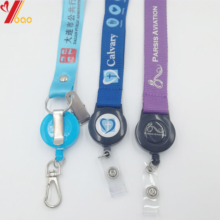 custom lanyard with card holder sublimation print ribbon backstage card neck lanyards custom logo staffs card