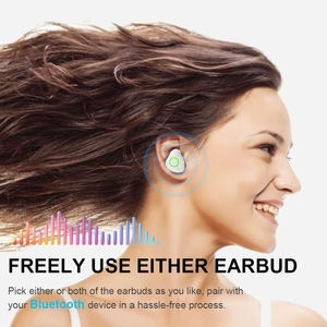 2020 New earphone Mini TWS Blue-tooths Earphone wireless Headphone hifi Twins True Wireless Earbuds