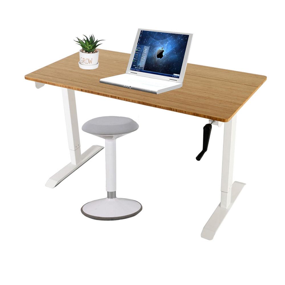Metal ofis mobilyaları özelleştirilmiş manuel ayakta el krank yüksekliği ayarlanabilir masa kaldırma <span class=keywords><strong>bürosu</strong></span>