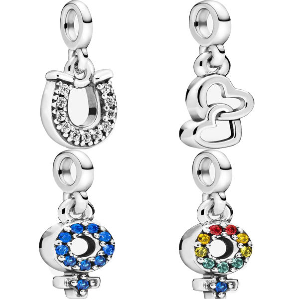 wholesale real beaded fit pandora charms 925 sterling silver Girl Pride Lucky Horseshoe Loves DIY ladies jewelry