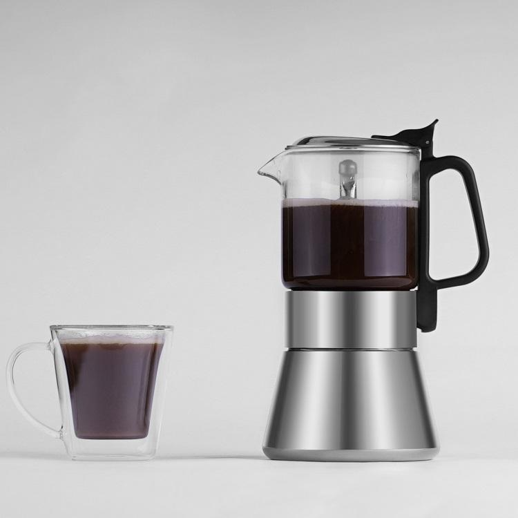 Eco-Friendly Pyrex glass Stocked Customizable Adequate Inventory Coffee Maker Tea Glass Mini Moka coffeemaker