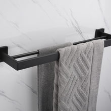 Wall Mount Double 12 24 30 Inch Square Bathroom Towel Bar