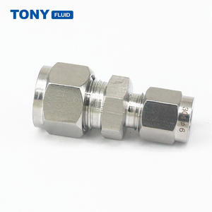6mm x 8mm OD Stainless Steel Reducing Union Tube Fitting Double Ferrule Compression Tube Fitting