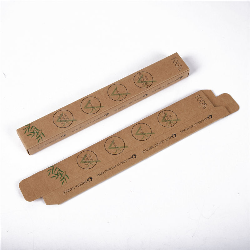 Eco friendly toothbrush packing biodegradable raw material custom toothbrush paper packaging box