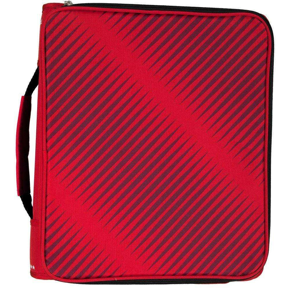 2 Inch Rits Bindmiddel 3 Ring Binder school 6-Pocket Expanding File Duurzaam Rood (72538)