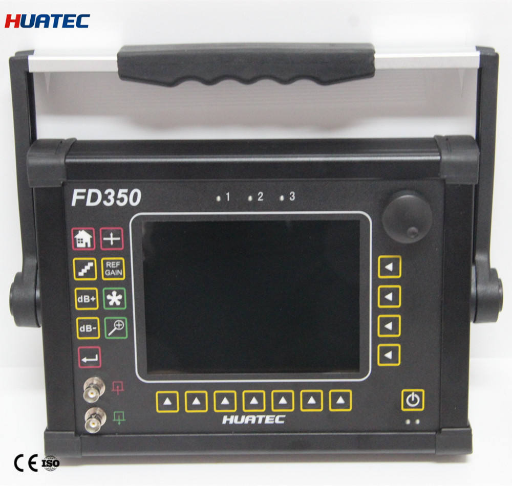 Portable Digital Ultrasonic Testing Flaw Detector with Automated calibration Automated gain FD350