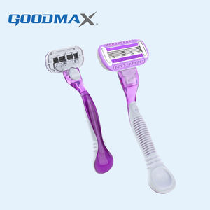 Women Removable Triple Blade Plastic Women Disposable Shaving Razor