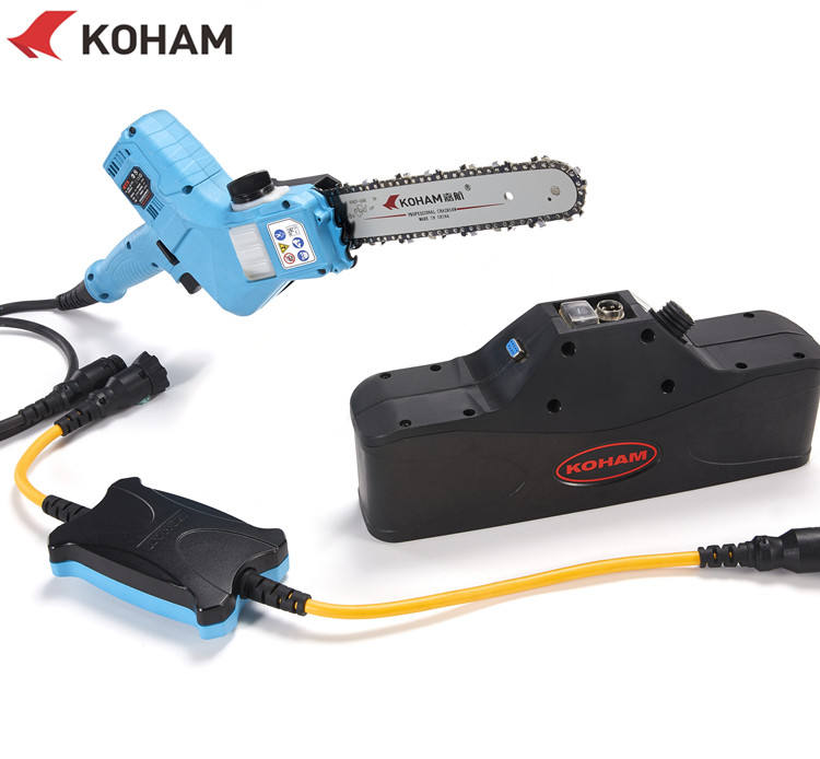 KOHAM Fruit Tree Branch Chain Saw Wood Cutting Battery Machine Electric Chainsaw