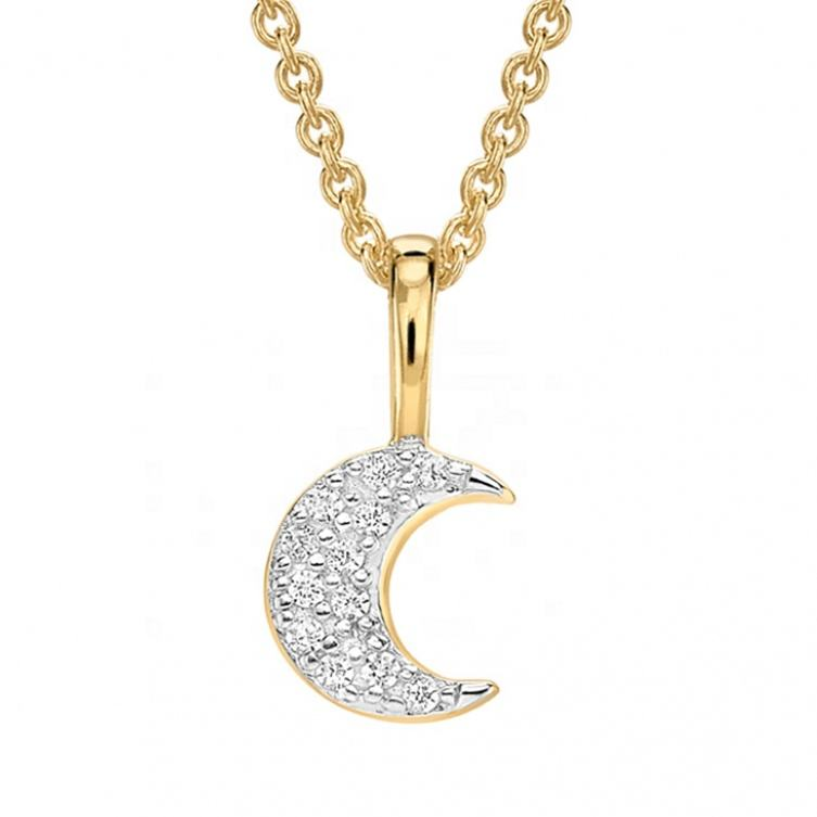Sterling silver moon commercio all'ingrosso dei monili in oro 18 carati gypsy collana
