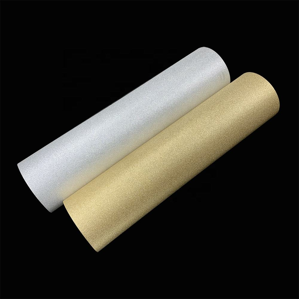Heat laminating transparent glitter shining thermal lamination film