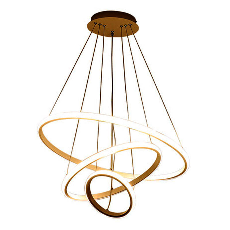 BLUE TIME Modern Led Chandelier Pendant Light Hanging Lamp 60 80 100 80 60cm 5Rings Out Shine Ceiling Chandelier Lighting Lamps