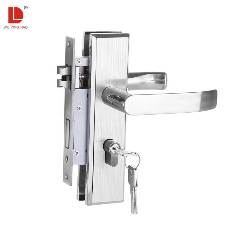 WUYINGHAO stainless steel plate door handle set lock for interior and doors