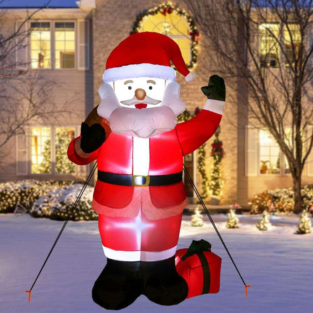 Hotselling Customized Outdoor Christmas Decorations 6ft LED Lights Natal Inflatables Santa Claus