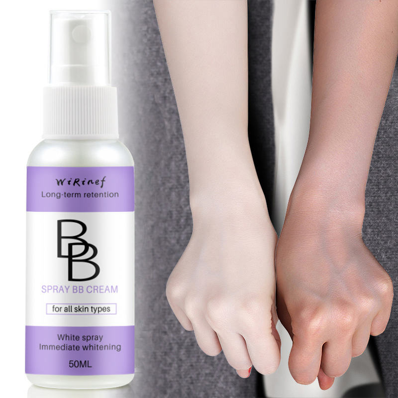 50ML Professional BB Cream Spray Long Lasting Face Whitening Brighten Base Makeup Concealer Foundation Cosmetic