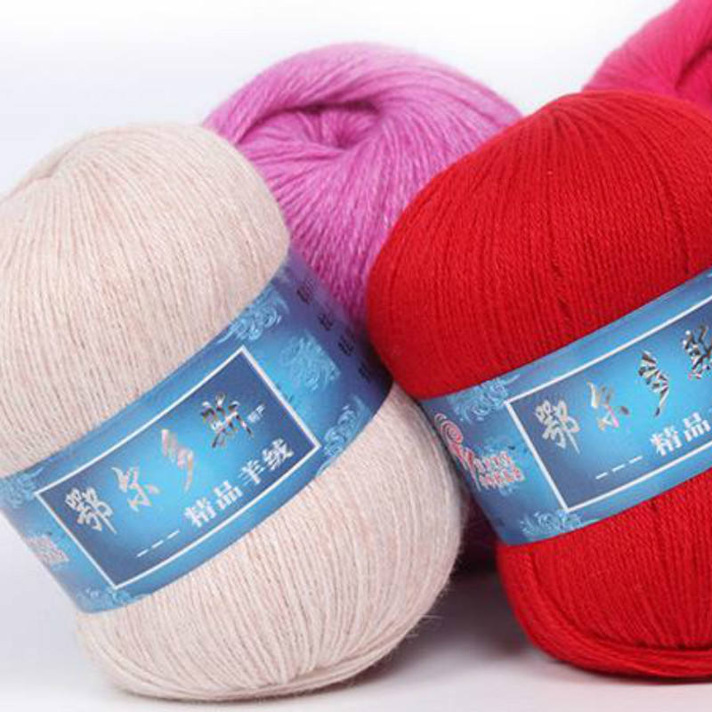 Deepeel BD443 DIY Hand Knitting Materials Baby Clothes Sweater Soft Mink Wool Sewing Accessories Cashmere Yarn