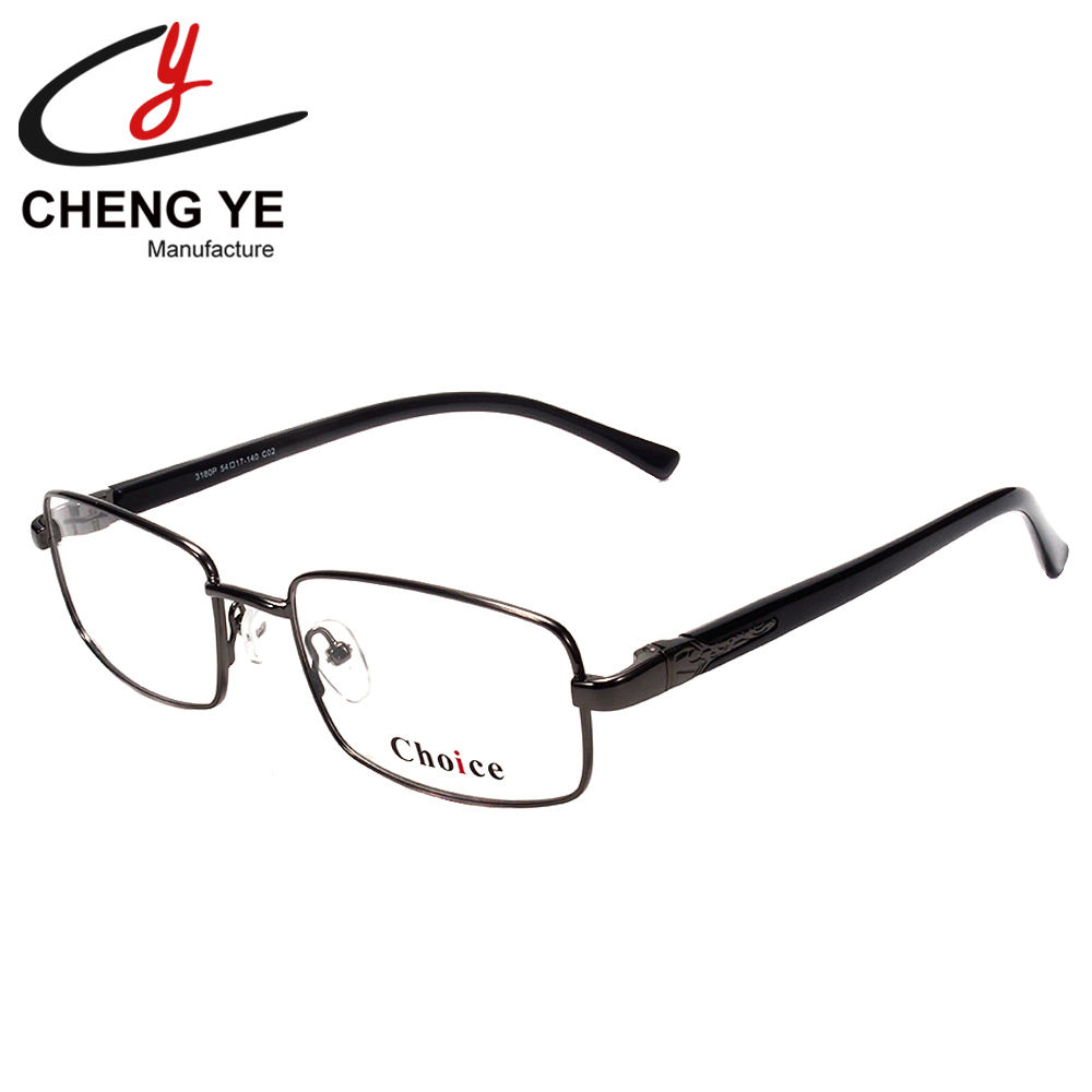 Factory Promotion Classic Retro Small Frame Square Male and Female Business Office Metal Optical Eyewear