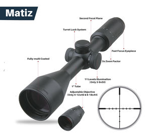 Vector Optics Matiz 4-12x40 Air Rifle Scopes 1 Inch Bdc Reticle 1/4MOA Cap Passen Abjective Parallax Instelling Voor luchtdruk Hunting