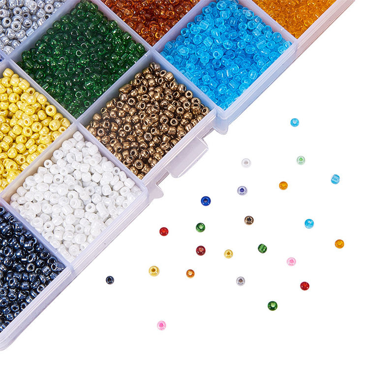 ES-(72)029 New 18-color glass beads mixed color boxed beads diy handmade jewelry accessories