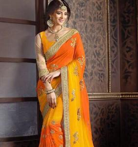 embroidery work heavy party wear saree for ladies with low price
