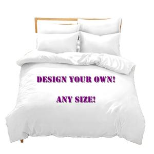 Digital Print Flat Bed Sheet Customized Fitted Bed Sheet 3d Pillow Case