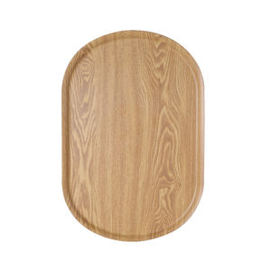 Cheap Wood Fiber Tray Wholesale Serving Tray Dishwasher Safe Color full Durable Food Serving Tray