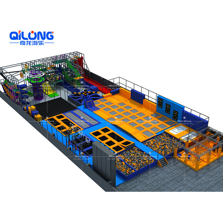 Factory Price New Design Kids Indoor Trampoline Equipment Trampoline Park For Sale