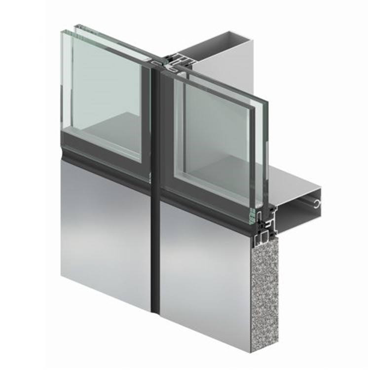 Topwindow Thermal Break Stick Frameless Profile Aluminium Glass And Aluminum And Curtain Wall