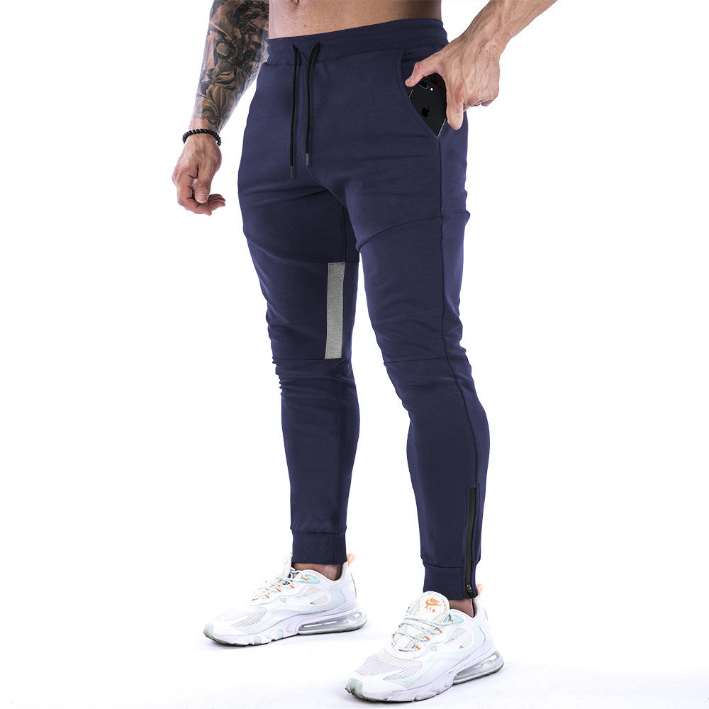 Mens Loose Fit Sport Gym Skinny Jogging Joggers Elastic Waist Stretch Sweat Pants