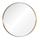 contemporary luxury design wall mounted decorative metal gold large round stainless steel frame wall mirror for living room