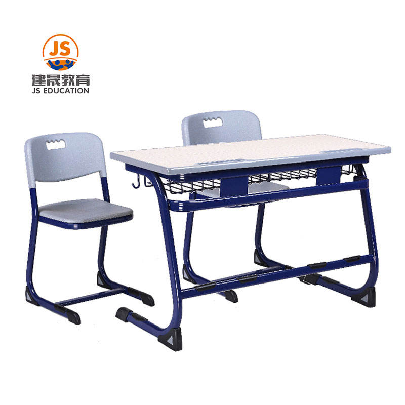 Modern High MDF Metal Frame double student desk and chair School Furniture