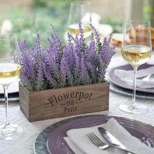 """Serviette /""""Lavendel Töpfe/"""" 5 Stück"""