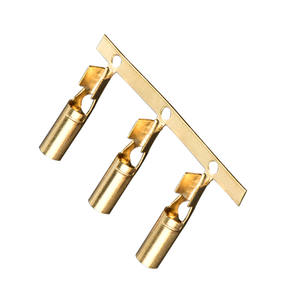 Factory direct 3.5mm brass terminal, copper tinned terminal, round tube female terminal