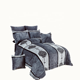 Customized Knitted 3D embossed winter flannel sherpa comforter 8pcs /set for home textile