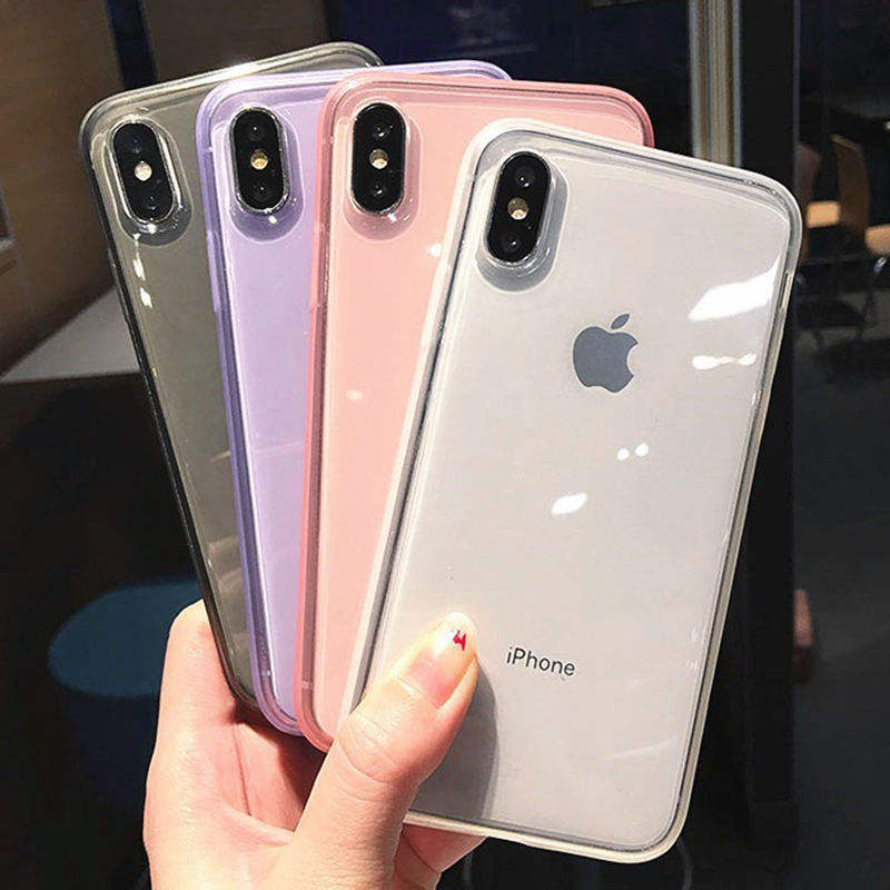 9 colors FashionTransparent Anti-shock Frame Phone Case For iPhone 11 X XS XR XS Max 8 7 6S Plus Soft TPU Protection Cover