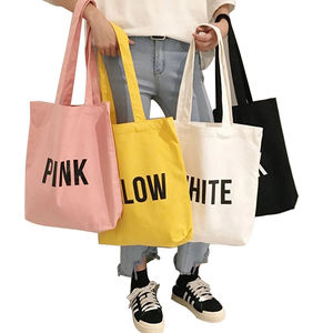 Custom Logo Promotional Cheap Cotton Small Tote Bag Canvas Zipper Bag