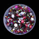 XULIN 4mm Plated 10 Kinds New Colors Crystal Flat Back Loose Round Resin Rhinestones Stones in bulk