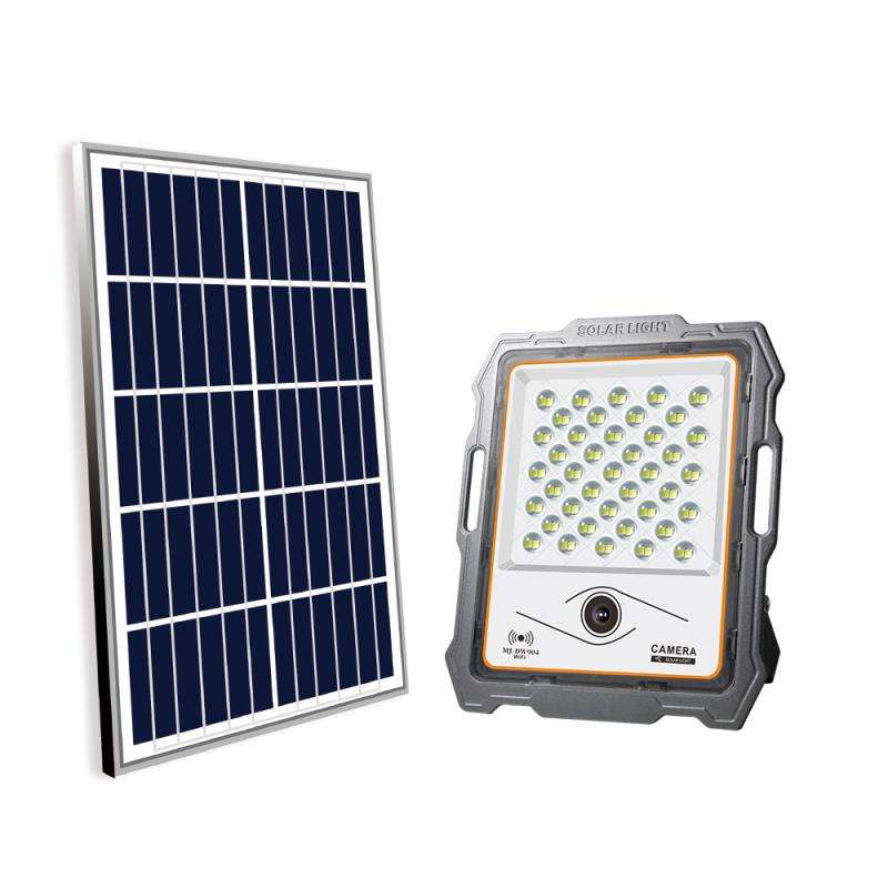 Waterproof ip67 led solar flood light 100w with motion active Spot Floodlight wifi cctv camera Powered by Solar