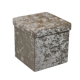 Velvet folding storage box collapsible decorative cube portable storage stool