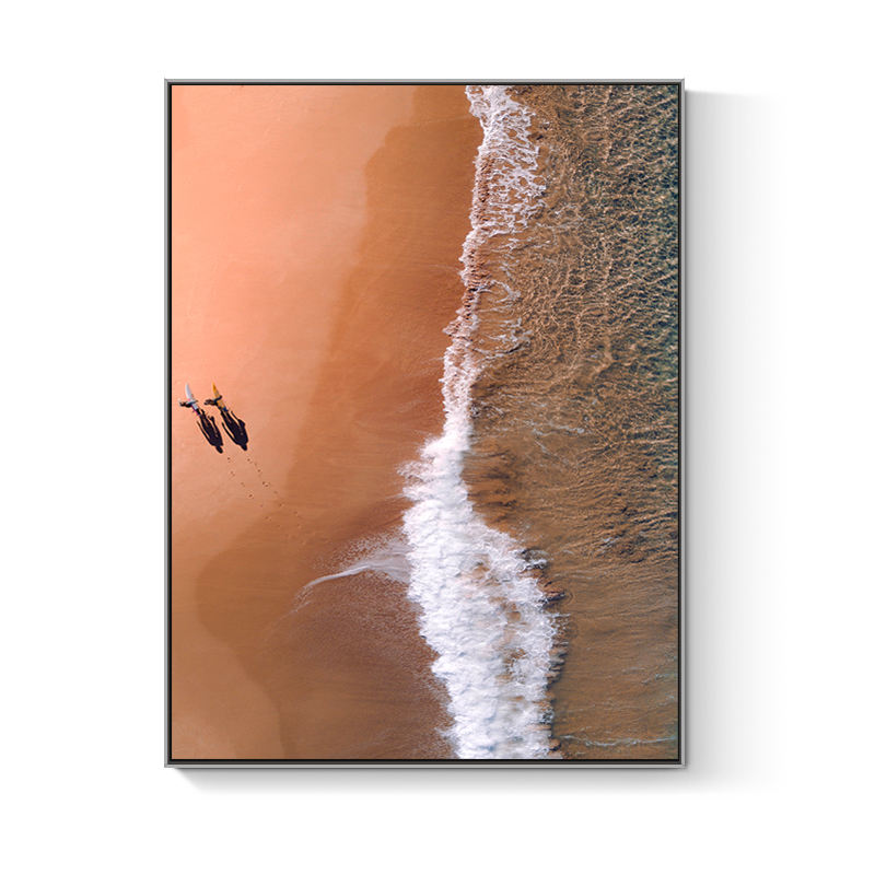 Large floating frame beach scenery picture canvas print wall decor art painting on canvas
