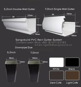 Pvc Rainwater Gutter System Pvc Rainwater Gutter System Suppliers And Manufacturers At Alibaba Com